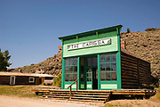 Exterior view of the Carissa Saloon at South Pass City State Historic Site, Wyoming.