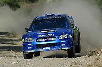 AUTO - WRC 2003 - CYPRUS RALLY -  20030622 - <br />N¡ 7 - PETTER SOLBERG - PHILL MILLS / SUBARU IMPREZA WRC - ACTION<br />PHOTO : FRANCOIS BAUDIN /DIGITALSPORT