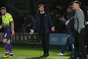 Exeter City Manager Matt Taylor during the EFL Sky Bet League 2 match between Salford City and Exeter City at the Peninsula Stadium, Salford, United Kingdom on 14 December 2019.