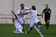 Luxembourg players celebrate their goal scored by Joel Kitenge (10).  friendly international match, Wales v Luxembourg at the Parc y Scarlets stadium in  Llanelli on Wed 11th August 2010. pic by Andrew Orchard, Andrew Orchard sports photography,