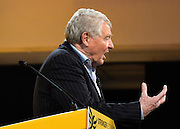 © Licensed to London News Pictures. 09/03/2013. Brighton, UK. Paddy Ashdown Chair of the Liberal Democrats 2015 General Election Team gives a speech   at the Liberal Democrat Spring Conference in Brighton today 9th March 2013. Photo credit : Stephen Simpson/LNP
