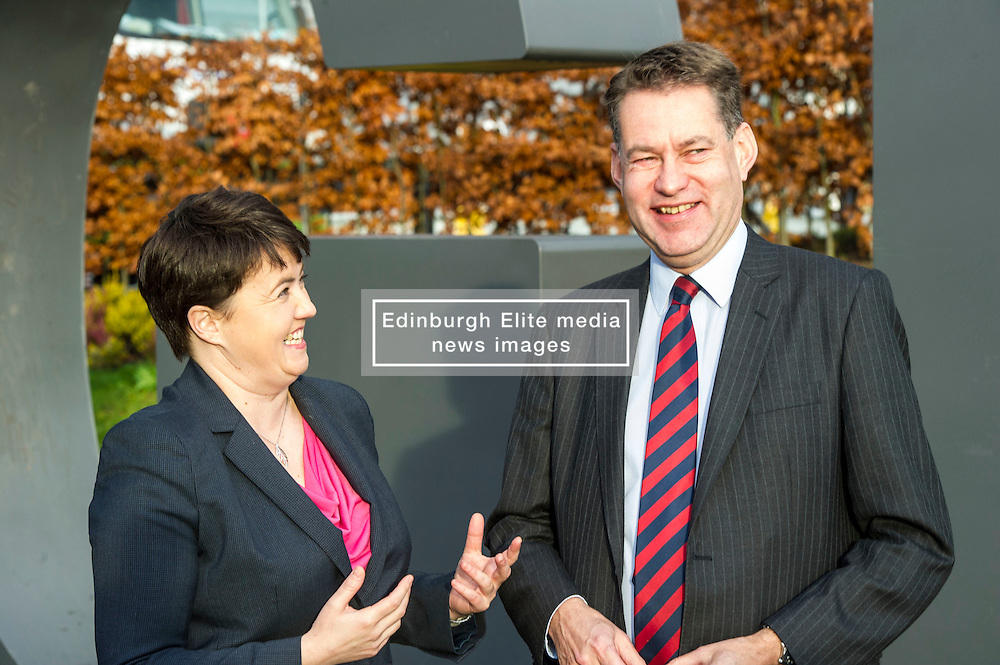 Pictured: Ruth Davidson and Murdo Fraser<br /> <br /> Scottish Conservatives leader Ruth Davidson and shadow finance secretary Murdo Fraser headed to Edinburgh Airport to meet Ahmet Serhat Sari, Turkish Airlines General manager for Scotland, 4 years after the airline opened up the route from the capital to Ankera. Ms Davison was keen to discuss the expansion of the Scottish economy.<br /> <br /> Ger Harley | EEm 9 December 2016