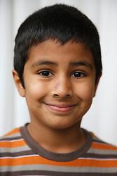 Portrait of asian boy smiling