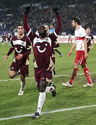 10.12.2010, AWD Arena, Hannover, GER, 1.FBL, Hannover 96 vs VfB Stuttgart, im Bild Torjubel Didier Ya Konan (Hannover #11) EXPA Pictures © 2010, PhotoCredit: EXPA/ nph/  Schrader       ****** out ouf GER ******