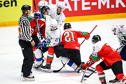 Bostjan Golicic of Slovenia and Janos Vas of Hungary during ice hockey match between Hunngary and Kazakhstan at IIHF World Championship DIV. I Group A Kazakhstan 2019, on May 3, 2019 in Barys Arena, Nur-Sultan, Kazakhstan. Photo by Matic Klansek Velej / Sportida