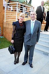 Actress ANGHARAD REES and MR DAVID McALPINE at a party at the Serpentine Gallery, Kensington Gardens, London to unveil their summer Pavilion designed by Frank Gehry on 20th July 2008.<br /> <br /> NON EXCLUSIVE - WORLD RIGHTS