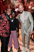 New York, New York- June 6: (L-R) Visual Artist Kehinde Wiley, Thelma Golden, Chief Curator, Studio Museum In Harlem, and Recording Artist/Actor Common attend the 2017 Gordon Parks Foundation Awards Dinner celebrating the Arts & Humanitarianism held at Cipriani 42nd Street on June 6, 2017 in New York City.   (Photo by Terrence Jennings/terrencejennings.com)