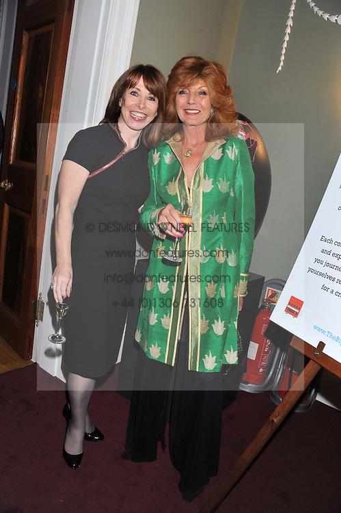 Left to right, KAY BURLEY and RULA LENSKA at a champagne reception to launch The Big Egg Hunt presented by Faberge in aid of the charities Action for Children and Elephant Family held at 29 Portland Place, London on 18th January 2012.