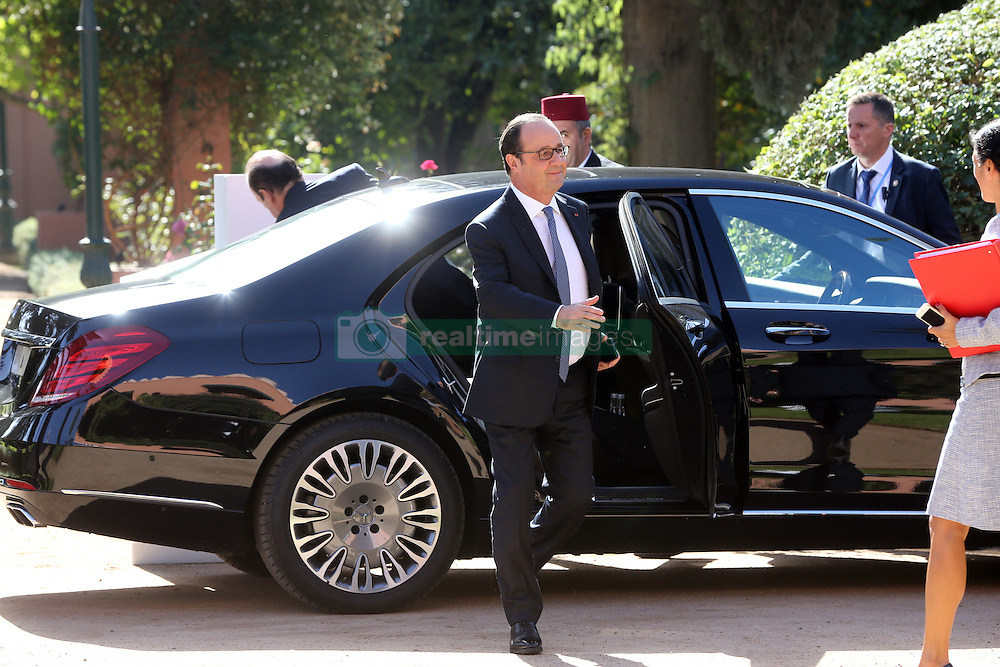 French President, Francois Hollande arrive the French businessmen at the french consulate during the COP22 Climate Change Conference in Marrakesh, Morocco, on November 16, 2016. Photo by Alain Robert/ABACAPRESS.COM