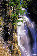 Holland Falls in the Swan Mountains. Swan Valley, Montana.