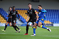 AFC Wimbledon defender Terell Thomas (6) shoots at goal during the EFL Sky Bet League 1 match between AFC Wimbledon and Lincoln City at Plough Lane, London, United Kingdom on 2 January 2021.