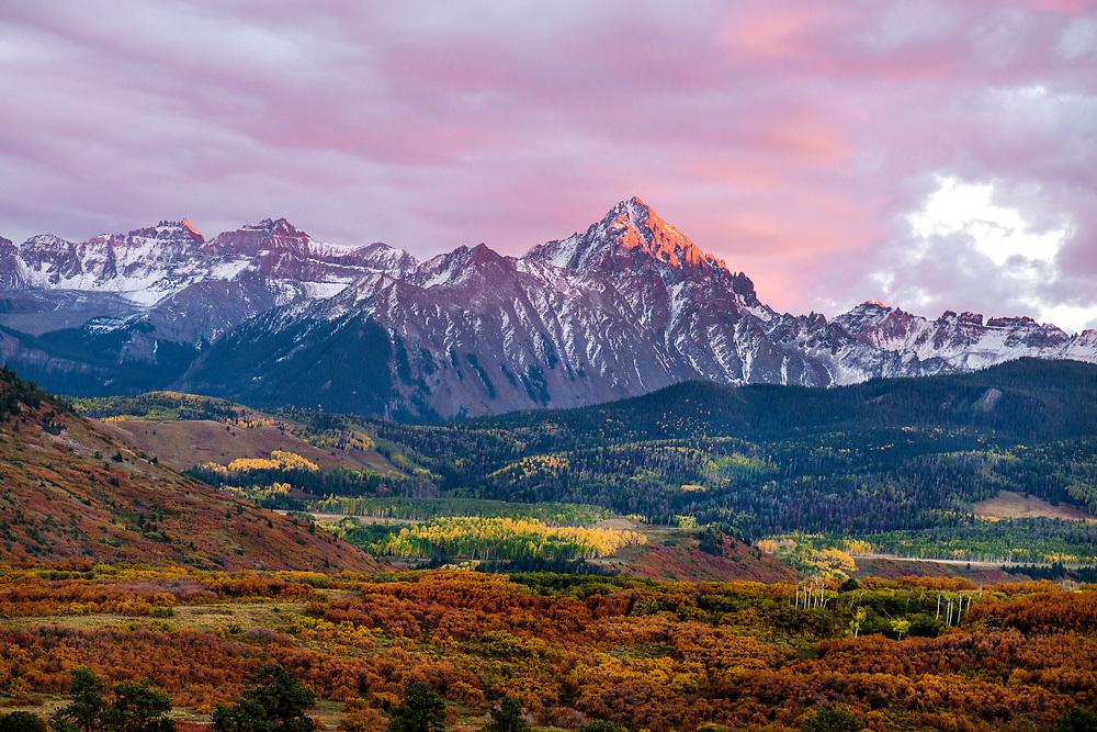 Autumn in the San Juan Mountains, Mount Sneffels Range, Dallas Divide, Colorado