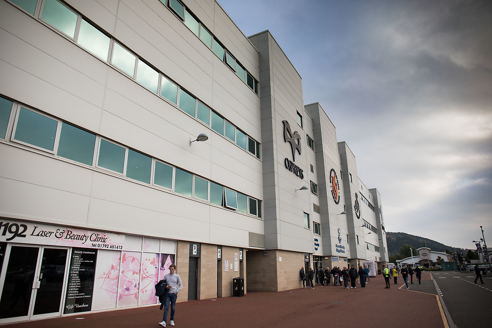 A general view of Liberty Stadium, home of Ospreys<br /> <br /> Photographer Simon King/CameraSport<br /> <br /> European Rugby Champions Cup Pool 2 - Ospreys v ASM Clermont Auvergne - Liberty Stadium - Swansea<br /> <br /> World Copyright © 2017 CameraSport. All rights reserved. 43 Linden Ave. Countesthorpe. Leicester. England. LE8 5PG - Tel: +44 (0) 116 277 4147 - admin@camerasport.com - www.camerasport.com