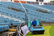 Water Hog unloads more water before the Vitality T20 Blast North Group match between Yorkshire Vikings and Leicestershire Foxes at Emerald Headingley Stadium, Leeds, United Kingdom on 2 September 2020.