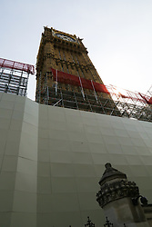 June 21, 2017 - London, London, United Kingdom - Image ©Licensed to i-Images Picture Agency. 21/06/2017. London, United Kingdom. Scaffolding covers Big Ben..Scaffolding has started covering the  Elizabeth Tower (Big Ben) as renovation works will begin later this year.. Picture by Dinendra Haria / i-Images (Credit Image: © Dinendra Haria/i-Images via ZUMA Press)