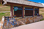 Bicycle on the San Juan Skyway (Highway 145) at Lizard Head Pass, San Juan National Forest, Colorado