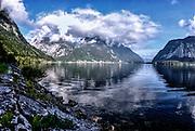 Alpine Landscape glacier lake