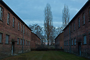 Barrack buildings, Auschwitz, Poland.