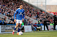 Chesterfield forward Jacob Brown (44)  during the EFL Sky Bet League 2 match between Chesterfield and Notts County at the Proact stadium, Chesterfield, England on 25 March 2018. Picture by Nigel Cole.