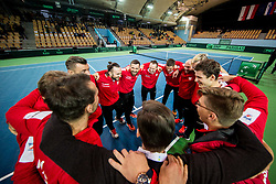 Team Poland celebrate after winning during the Day 2 of Davis Cup 2018 Europe/Africa zone Group II between Slovenia and Poland, on February 4, 2018 in Arena Lukna, Maribor, Slovenia. Photo by Vid Ponikvar / Sportida