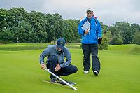 HEELSUM / RENKUM -  Course Rating met Christian Fung-A-You, Dini Broeks en Robert Hage (NGF) .  Om een goed werkend handicapsysteem te hebben worden alle golfbanen beoordeeld op het gebied van lengte en moeilijkheid tijdens het golfen.  Het systeem dat wordt gebruikt om deze banen te meten is het USGA Course Rating Systeem.  COPYRIGHT KOEN SUYK