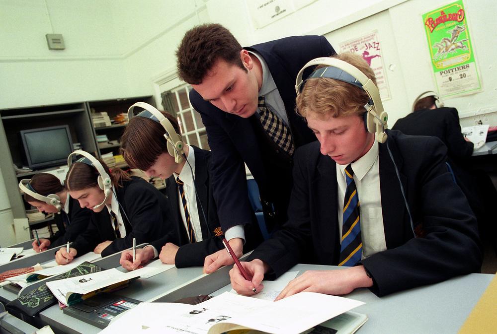 Language class in secondary school,