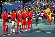 Team Spain during the 2018 Davis Cup, semi final tennis match between France and Spain on September 14, 2018 at Pierre Mauroy stadium in Lille, France - Photo Laurent Lairys / ProSportsImages / DPPI