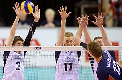 20150613 NED: World League Nederland - Finland, Almere<br /> Eemi Tervaportti #2, Sauli Sinkkonen #11, Kay van Dijk #12