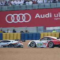 #80 Porsche 911 RSR, Flying Lizards Motorsports, Drivers: Bergmeister/Long/Holzer, Le Mans 24H 2012