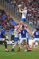 March 16, 2019 - Rome, Italy - Sergio Parisse RBS Six Nations Rugby Championship, Italia v Francia at the Olympic Stadium in Rome, on march 16, 2019  (Credit Image: © Silvia Lore/NurPhoto via ZUMA Press)