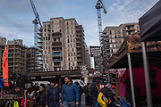 Nine Elms market in Vauxhall near the new U.S. Embassy and extensive development, Nine Elms, London. 6 January 2018