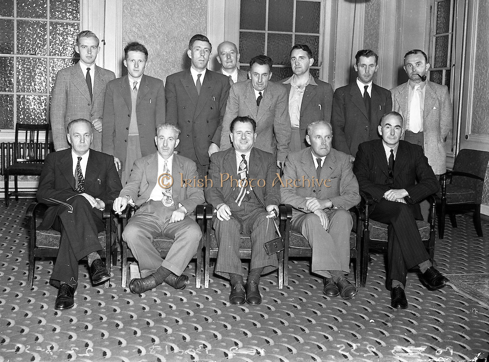 22/7/1952<br /> 7/22/1952<br /> 22 July 1952<br /> <br /> Irish Creamery Managers leave for Denmark