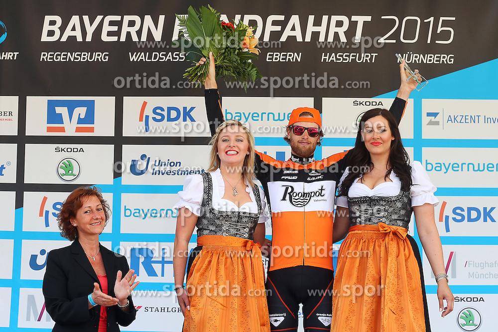 Radsport: 36. Bayern Rundfahrt 2015 / 3. Etappe, Selb - Ebern, 15.05.2015<br /> Cycling: 36th Tour of Bavaria 2015 / Stage 3, <br /> Selb - Ebern, 15.05.2015<br /> Siegerehrung - podium, <br /> # 162 Asselman, Jesper (NED, ROOMPOT), bester Nachwuchsfahrer