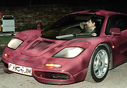 File photo dated 15/11/98 of Rowan Atkinson at the wheel of his McLaren F1 GTR sports car as he is selling it, despite it being involved in a crash which warranted one of the largest repair bills of all time.