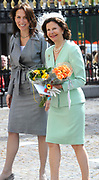 State visit of the Swedish king Carl XVI Gustaf and queen Silvia van Zweden to the Netherlands.<br /> <br /> On the Photo Queen Silvia arrives at the Maurits House