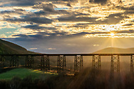 The Moodna Viaduct railroad trestle in the Town of Cornwall, N.Y., on Nov. 26, 2020.