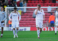 Photo: Leigh Quinnell.<br /> Watford v Hull City. Coca Cola Championship. 20/10/2007. Hulls Michael Turner unhappy with the loss.