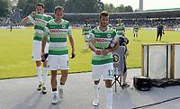 ALL BRUK AV BILDET BLIR FAKTURERT. INNGÅR IKKE I AVTALER.<br /> <br /> Fotball<br /> Tyskland<br /> Foto: imago/Digitalsport<br /> NORWAY ONLY<br /> <br /> 08.08.2015 - Fussball - Saison 2015 2016 - DFB Pokal Vereinspokal - 01. Runde: FC Erzgebirge Aue - SpVgg Greuther Fürth Fuerth - / - enttäuscht / Enttäuschung nach Spielende - von links : Benedikt Röcker Roecker (2, SpVgg Greuther Fürth ) Sebastian Freis (9, SpVgg Greuther Fürth ) Zlatko Tripic (17, SpVgg Greuther Fürth )<br /> <br /> Zlatko Tripic