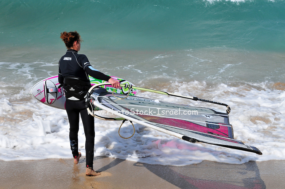 Lee Korzits Israeli windsurfer and second time world champion at the Sailing World Championships in Perth, Australia This was the second time she won the crown - the first time she did it at age 19, in 2003. - Picture taken in Israel on February 16th 2009