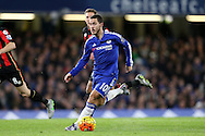 Eden Hazard of Chelsea running with the ball. Barclays Premier league match, Chelsea v AFC Bournemouth at Stamford Bridge in London on Saturday 5th December 2015.<br /> pic by John Patrick Fletcher, Andrew Orchard sports photography.