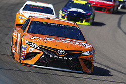March 11, 2018 - Avondale, Arizona, United States of America - March 11, 2018 - Avondale, Arizona, USA: Daniel Suarez (19) brings his car through the turns during the Ticket Guardian 500(k) at ISM Raceway in Avondale, Arizona. (Credit Image: © Chris Owens Asp Inc/ASP via ZUMA Wire)