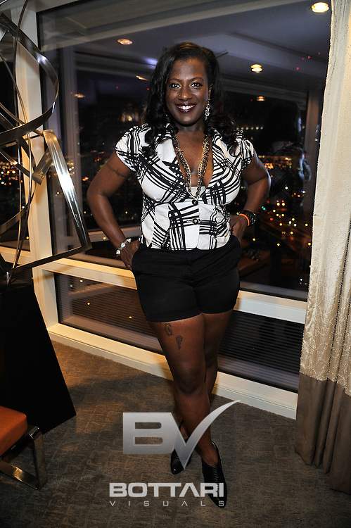LAS VEGAS, NV - FEBRUARY 19:  Rapper Lola 'Gansta Boo' Mitchell attends the FlauSachika Groups exclusive magic suite party at Aria Resort & Casino at CityCenter on February 19, 2013 in Las Vegas, Nevada.  (Photo by Jeff Bottari/WireImage)