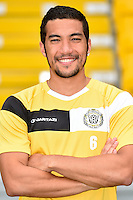 20150626 - LOKEREN, BELGIUM: Lokeren's Arthur Oyama pictured during the 2015-2016 season photo shoot of Belgian first league soccer team Sporting Lokeren, Friday 26 June 2015 in Lokeren. BELGA PHOTO LUC CLAESSEN