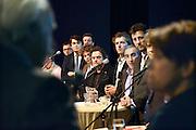Nederland, Nijmegen, 11-3-2014Verkiezingsdebat georganiseerd door regionaal dagblad de gelderlander. Debat over gemeenteraadsverkiezingen in wijkcentrum de Klif in de nieuwbouwwijk Oosterhout in de Waalsprong.Foto: Flip Franssen/Hollandse Hoogte