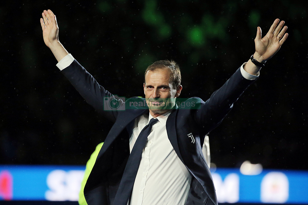 May 19, 2019 - Turin, Turin, Italy - head coach of Juventus FC Massimiliano Allegri looks on during the serie A match between Juventus FC and Atalanta BC at Allianz Stadium on May 19, 2019 in Turin, Italy. (Credit Image: © Giuseppe Cottini/NurPhoto via ZUMA Press)