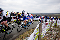 Roxane Fournier approaches the top of the VAMberg at Drentse 8 van Westerveld 2018 - a 142 km road race on March 9, 2018, in Dwingeloo, Netherlands. (Photo by Sean Robinson/Velofocus.com)