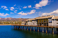 Stearns Wharf, Santa Barbara, California USA.