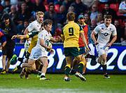 England scrum-half Harry Randall makes a break during the World Rugby U20 Championship  match England U20 -V- Australia U20 at The AJ Bell Stadium, Salford, Greater Manchester, England on June  15  2016, (Steve Flynn/Image of Sport)