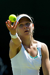 26.06.2012, Wimbledon, London, GBR, WTA, The Championships Wimbledon, im Bild Lucie Safarova (CZE) during day two of the WTA Tour Wimbledon Lawn Tennis Championships at the All England Lawn Tennis and Croquet Club, London, Great Britain on 2012/06/26. EXPA Pictures © 2012, PhotoCredit: EXPA/ Propagandaphoto/ David Rawcliff..***** ATTENTION - OUT OF ENG, GBR, UK *****