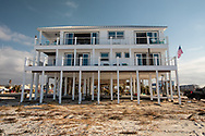 Only house that made it through Hurricane Michael with little damage on the beach front side of the Mexico Beach.